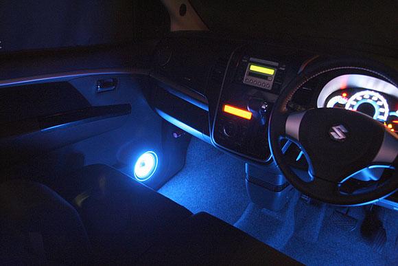 LEDとアクリルのスピーカーイルミ